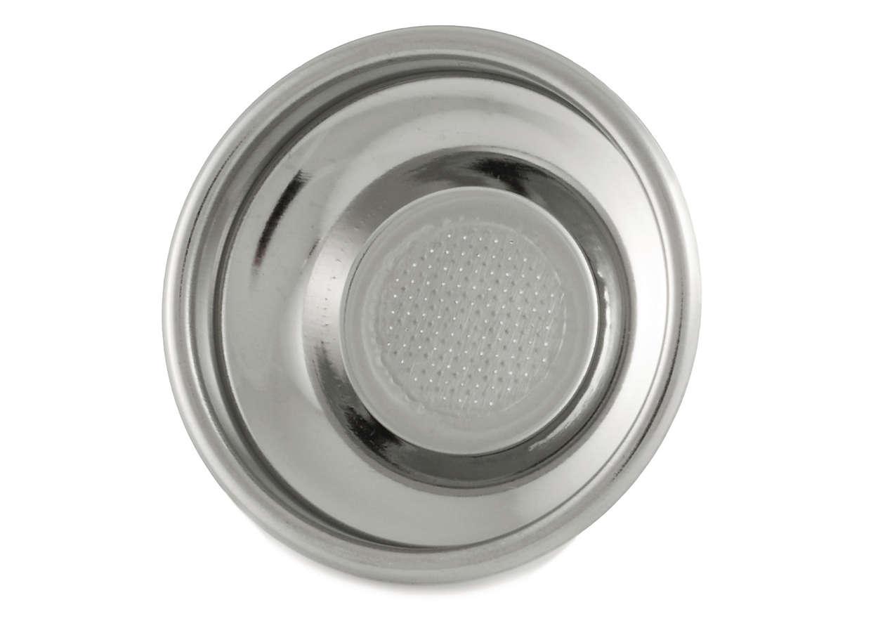 Permite utilizar dosis en el portafiltro