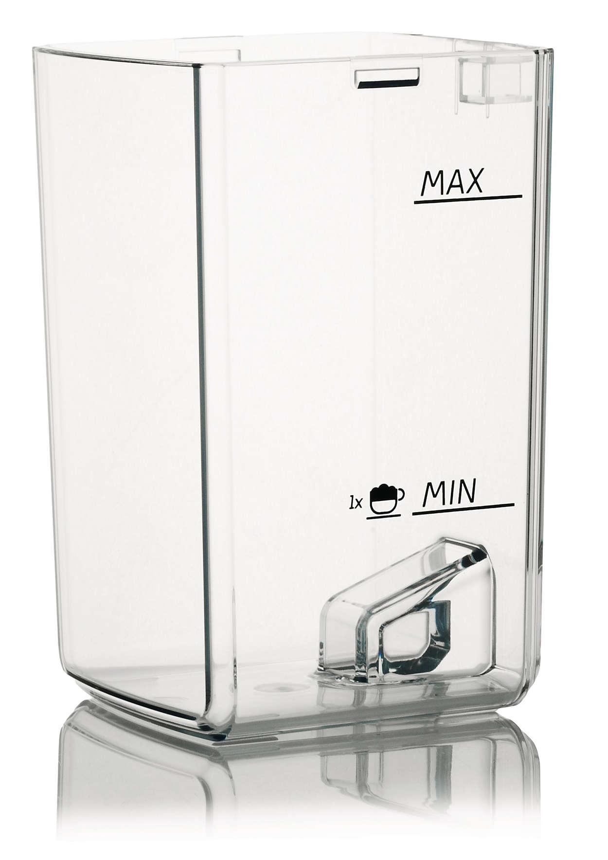 Bewahrt die Milch in Ihrem Kaffeevollautomaten auf