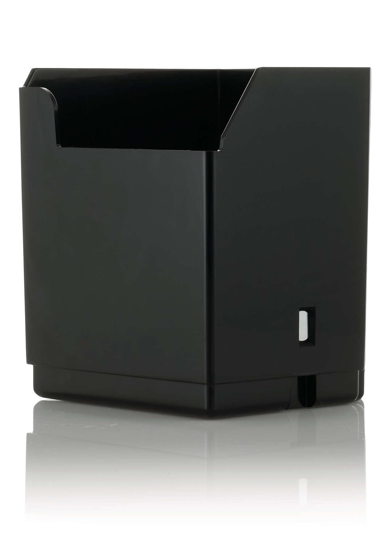 Compartimento de desecho para el café molido