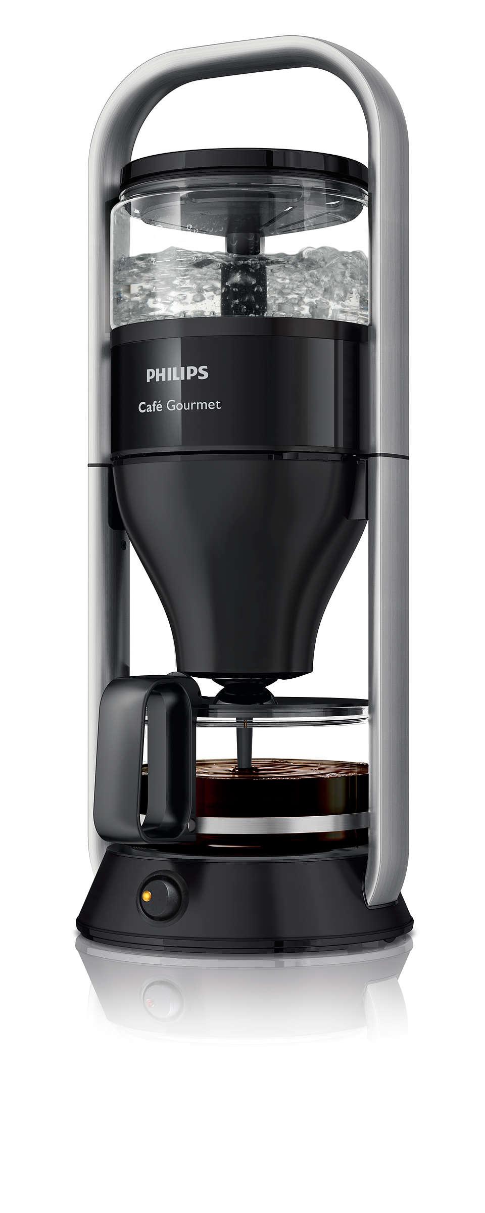 Okus ročno pripravljene filtrske kave, od leta 1988
