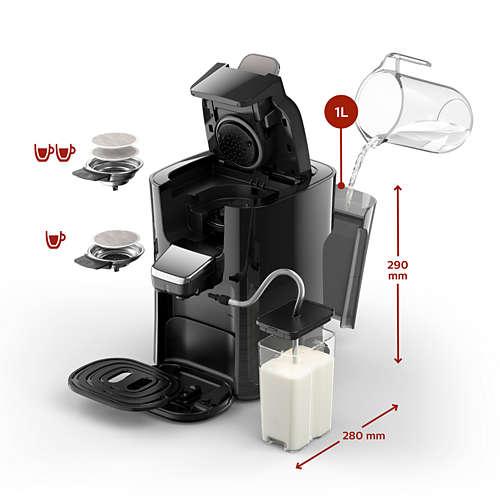 Latte Duo Plus Kaffeepadmaschine