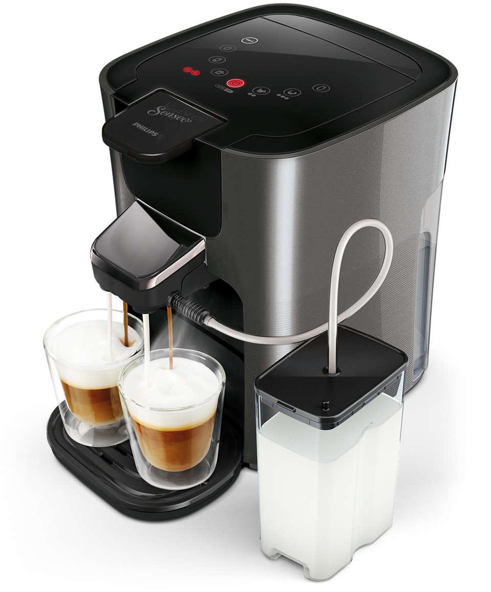 Padmaschine Anthrazit PHILIPS SENSEO® HD6574//50 Latte Duo Plus