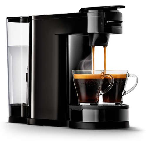 Pad- und Filterkaffeemaschine