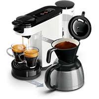 Machine à café à dosettes et filtre