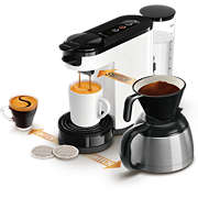 SENSEO® Switch 3-in-1 Kaffebryggare Vit