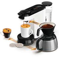 Kaffemaskin för kapslar och bryggkaffe