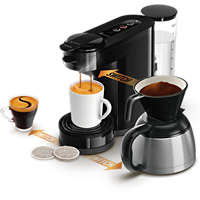 Kaffetrakter med pute og filter