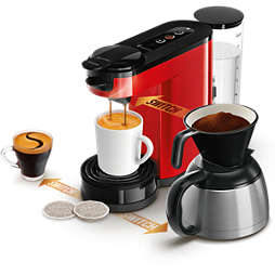 SENSEO® Switch 3in1 Kaffetrakter Base+ Rød