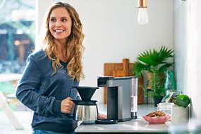 Switch Premium Machine à café à dosettes et filtre