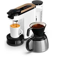 HD6597/00 SENSEO® Switch 3in1 Pude- og filterkaffemaskine