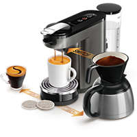 Switch 3-in-1 Kaffemaskin för kapslar och bryggkaffe