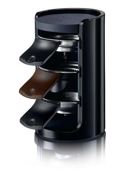 SENSEO®-station med nem opbevaring af kaffe puder