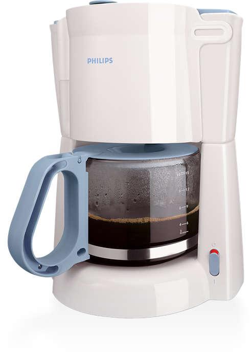Puiki filtruota kava, lengvai paruošiama