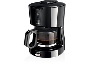 Philips Daily Collection Coffee maker HD7450 20 With glass jug Black