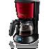 Philips Daily Collection Koffiezetapparaat HD7459/61 Met glazen kan en timer, China Red, metaal en zwart