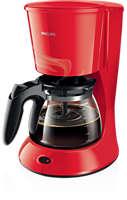 AromaSwirl-koffiezetapparaat met glazen kan, Monza-rood