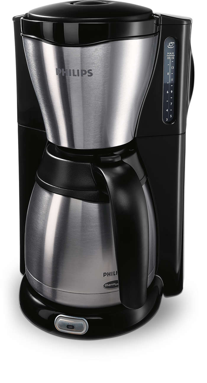 Köstlicher und heißer Kaffee, in ikonischem Design