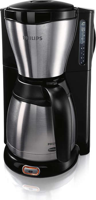 Njut av kaffe som är färskt och varmt längre