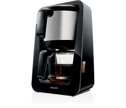 The only coffee maker with 2-in-1 water and coffee tank