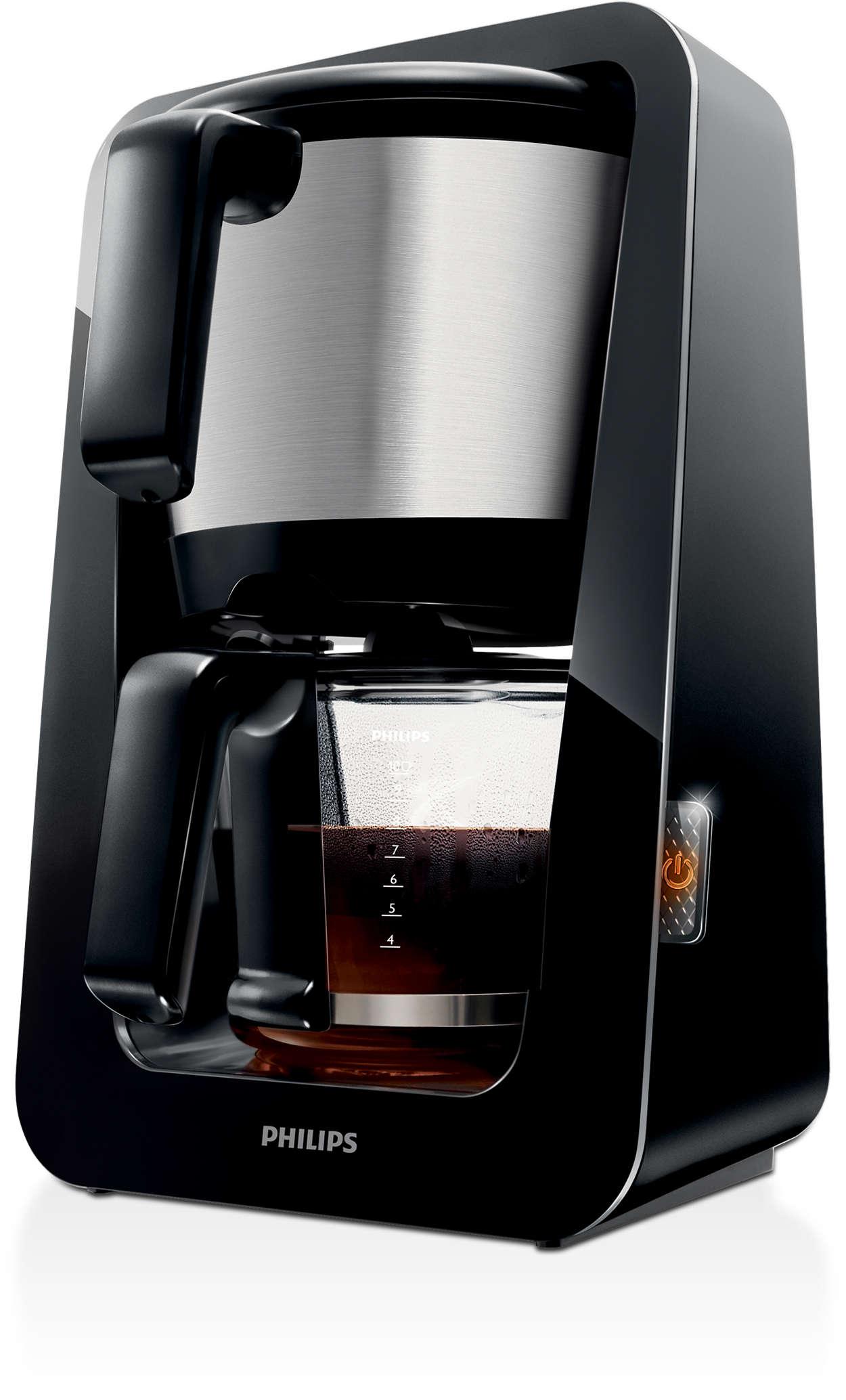 Den eneste kaffetrakteren med 2-i-1-beholder for vann og kaffe