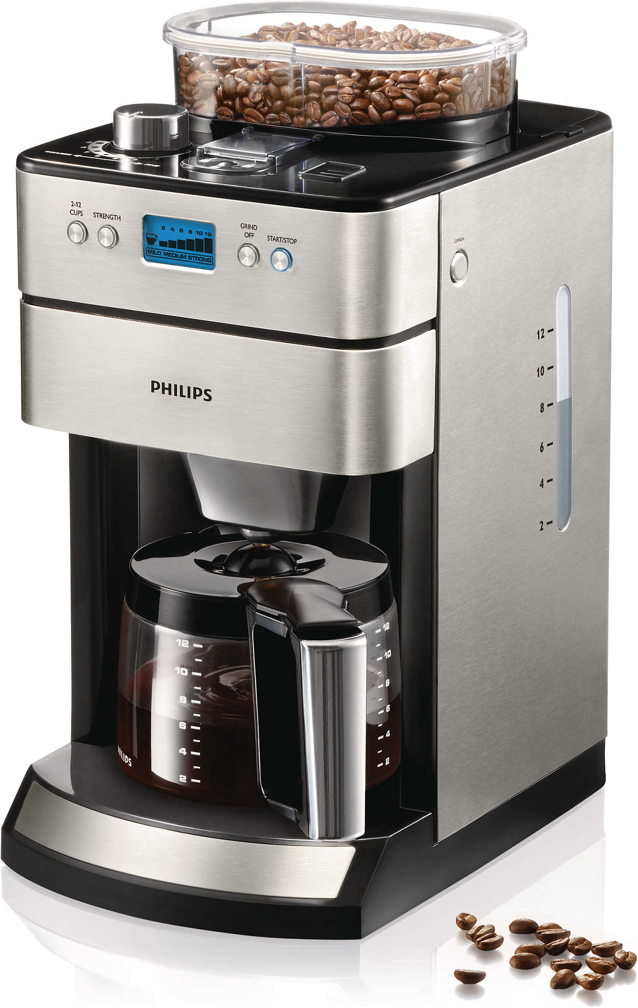 grind brew kaffeemaschine hd7740 00 philips. Black Bedroom Furniture Sets. Home Design Ideas