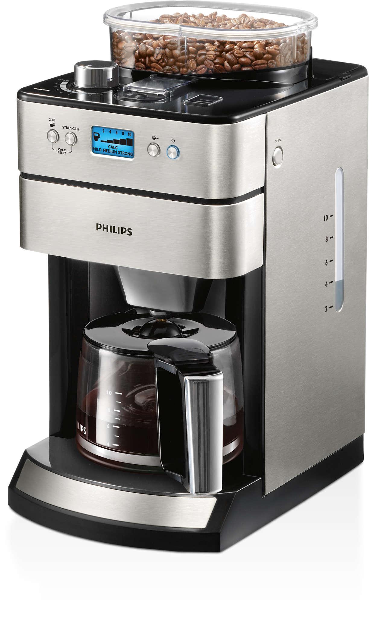 Overheerlijke koffie begint bij versgemalen bonen