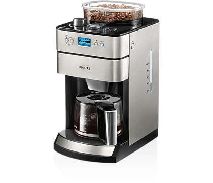 kaffemaskin med bönor