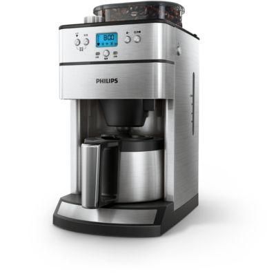 kaffebryggare med termos och timer