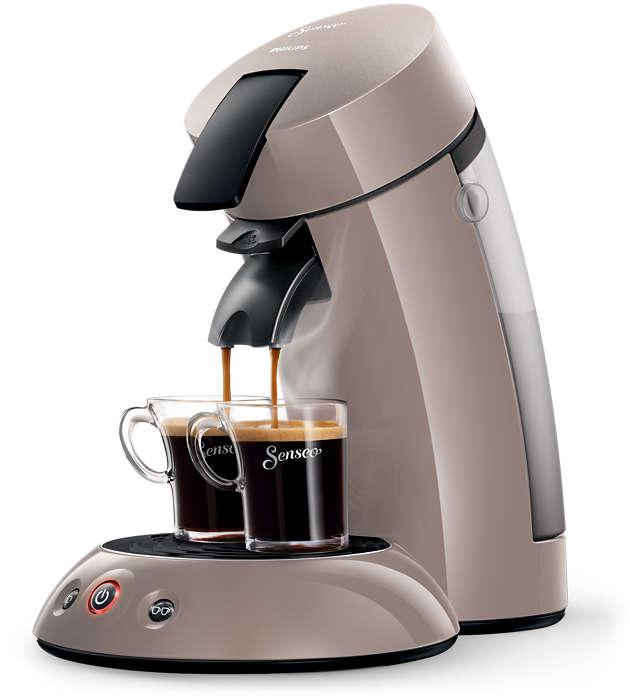 Un délicieux café à la simple pression d'un bouton