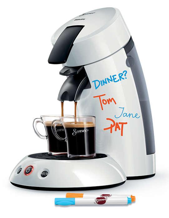 Deilig kaffe bare ved å trykke på en knapp