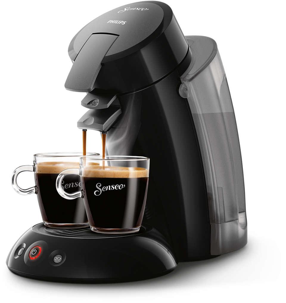 Café delicioso com um simples toque num botão
