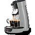 SENSEO® Viva Café Koffiezetapparaat (Exclusief bij Carrefour) HD7821/59 Verstelbare metalen tuit, zilvergrijs, 2 kopjes en ontkalker