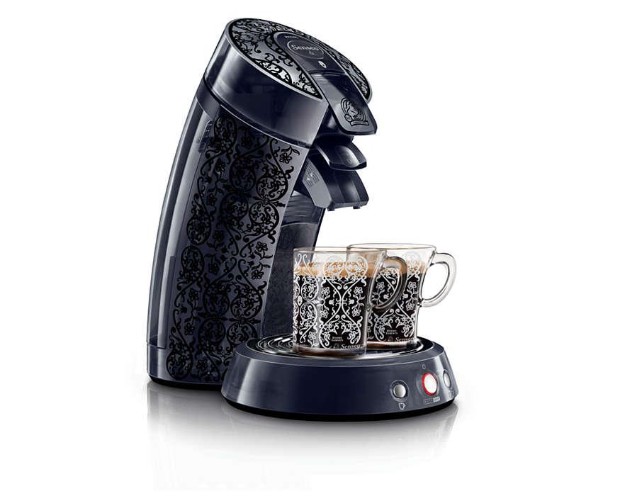 Szenzációs, frissen főzött kávé, stílusosan