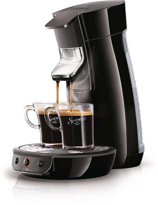 Un délicieux café par la simple pression d'un bouton