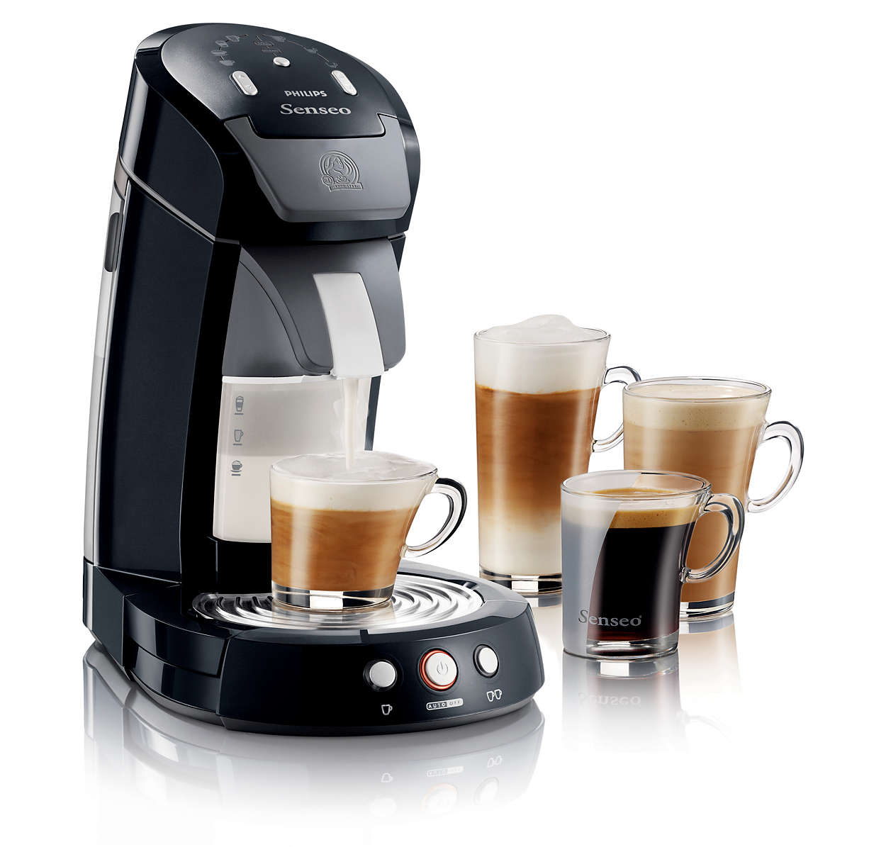 latte select coffee pod machine hd7850 60 senseo. Black Bedroom Furniture Sets. Home Design Ideas