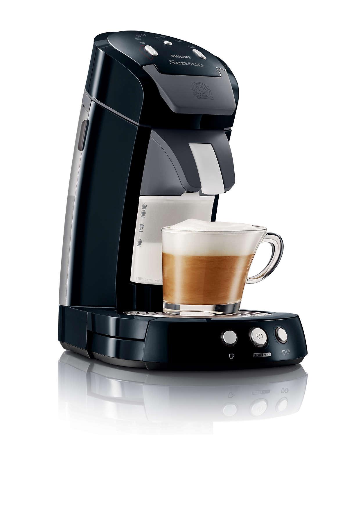 Sensationeller Kaffee. Frisch aufgeschäumte Milch.