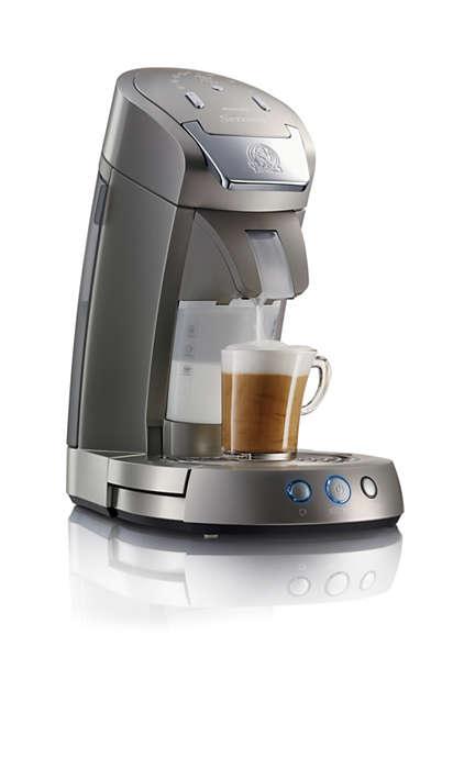 Sensationel kaffe. Frisk opskummet mælk.