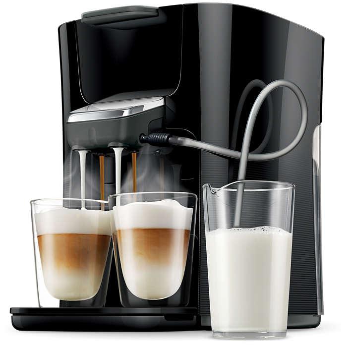 Endlich zwei Cappuccinos auf einmal mit frischer Milch!