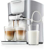 2 Cappuccinos in einem Durchgang, Kaffeepadmaschine