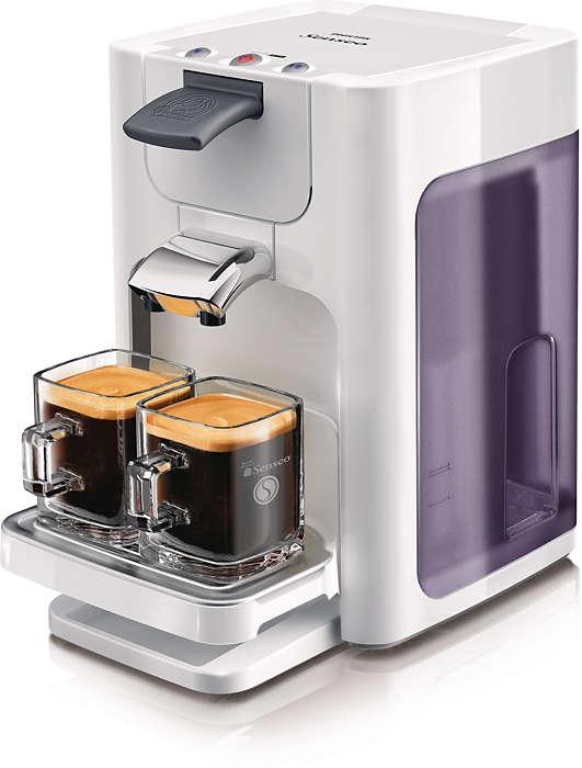 Lækker kaffe med et tryk på en knap