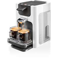 Höhe der Abtropfschale verstellbar, Kaffeepadmaschine