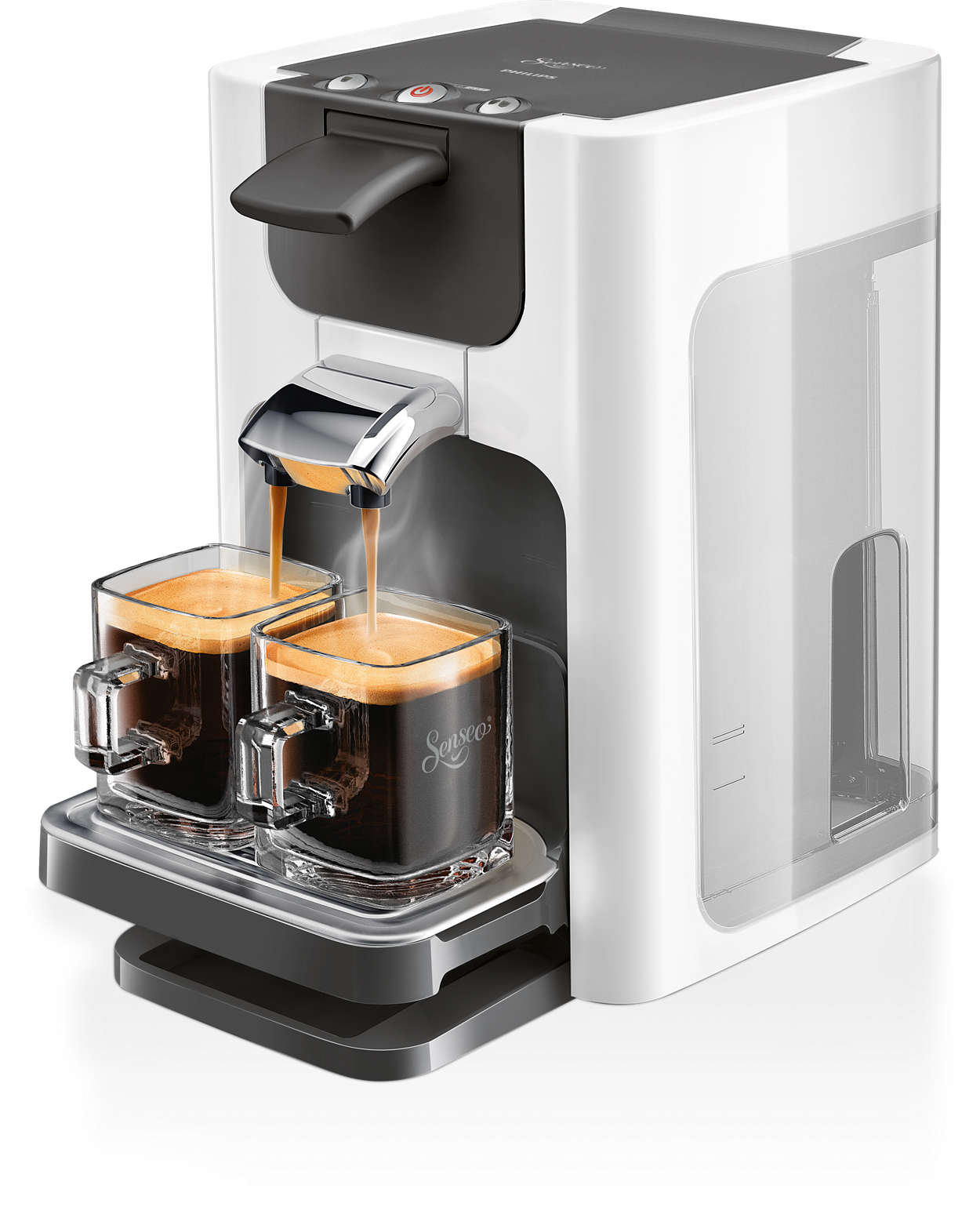 Köstlicher Kaffee auf Knopfdruck, in modernem Design