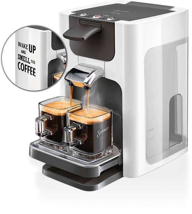Deilig kaffe med ett knappetrykk og moderne design