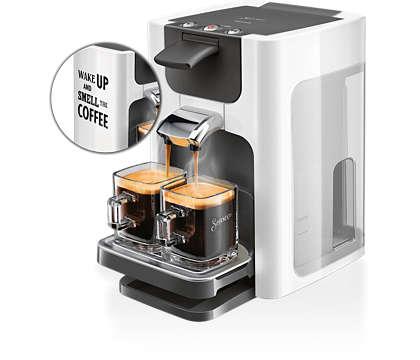 Läckert kaffe med ett tryck i en modern design