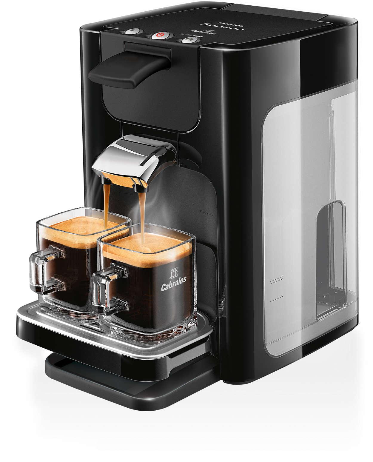 Café delicioso a un toque con un diseño moderno