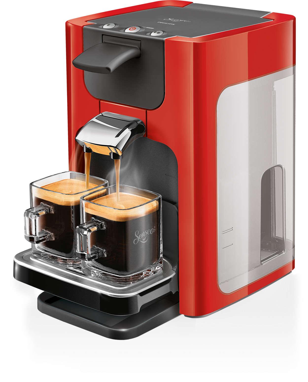 Un café delicioso con un solo toque y un diseño moderno