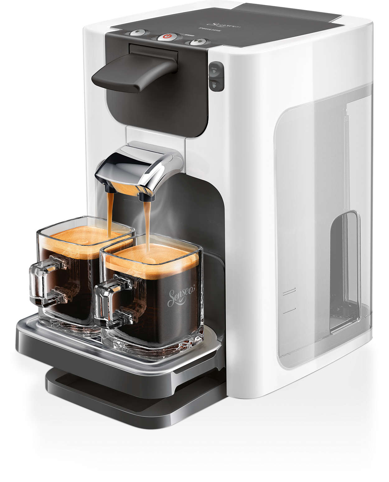 quadrante coffee pod machine hd  senseo® - delicious coffee at a touch in a modern design
