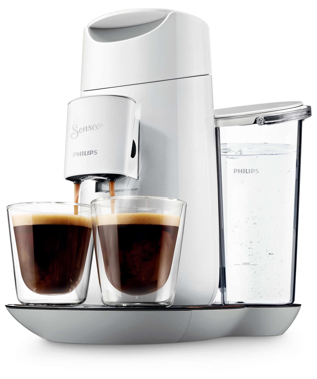 Wählen Sie die Kaffeestärke ganz nach Belieben.