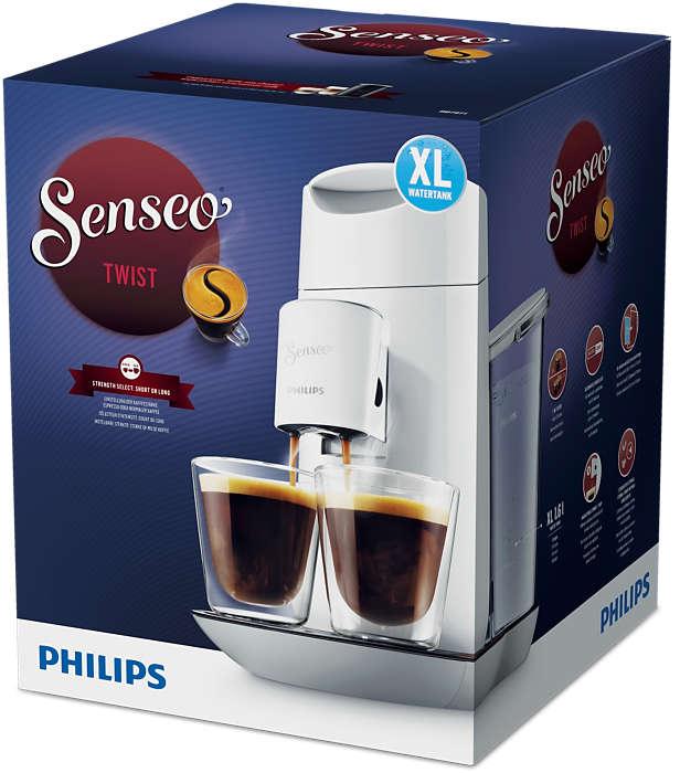 Kies de koffiesterkte die u wilt.