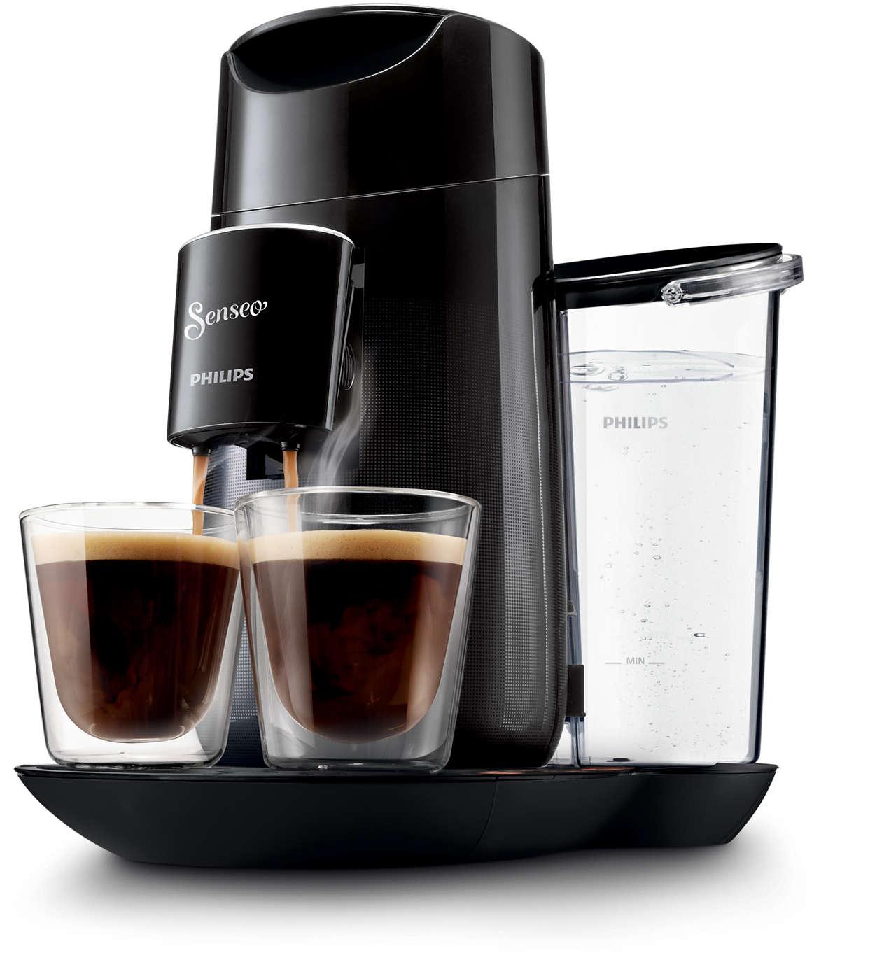 Wählen Sie die Kaffeestärke nach Belieben aus